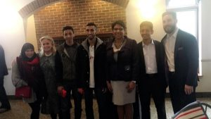 Fordson students photographed with Rep. Santana and Rep. Hammoud and Congresswoman Dingle
