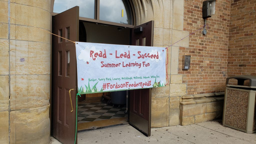 Fordson Feeder Reads Sign
